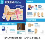 hearing infographic elements.... | Shutterstock .eps vector #644854816