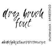 hand drawn dry brush font.... | Shutterstock .eps vector #644855410