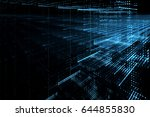 digital technology abstract... | Shutterstock . vector #644855830