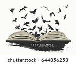 flying birds from an open book... | Shutterstock .eps vector #644856253
