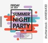 modern style abstraction summer ...   Shutterstock .eps vector #644856430