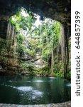 ik kil cenote in mexico | Shutterstock . vector #644857399