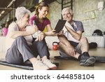 senior couple in rehabilitation ... | Shutterstock . vector #644858104