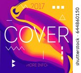 cover abstract design. template ... | Shutterstock .eps vector #644860150