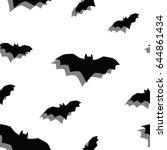 seamless texture pattern bat ... | Shutterstock .eps vector #644861434