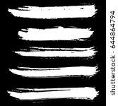 ink vector brush strokes set.... | Shutterstock .eps vector #644864794