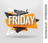 black friday geometric banner... | Shutterstock .eps vector #644866000