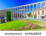 segovia  spain. view at plaza... | Shutterstock . vector #644868883
