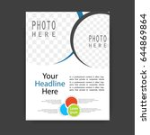 brochure template flyer design... | Shutterstock .eps vector #644869864
