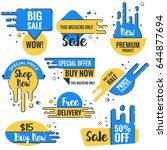 collection of sale discount... | Shutterstock .eps vector #644877694