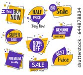 collection of sale discount... | Shutterstock .eps vector #644878834