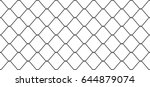chain link wire mesh fence... | Shutterstock .eps vector #644879074