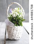 Spring Sale Tag And Bouquet Of...