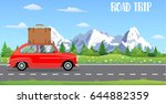 web banner on the theme of road ... | Shutterstock .eps vector #644882359
