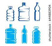 set of plastic bottles symbols... | Shutterstock .eps vector #644883904