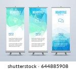 banner stand design template... | Shutterstock .eps vector #644885908