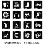 industrial vector icons for... | Shutterstock .eps vector #644886238