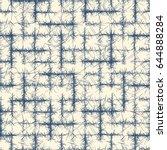 indigo blue seamless fabric... | Shutterstock .eps vector #644888284