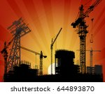 illustration with house...   Shutterstock .eps vector #644893870