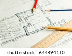 on the sheet of the drawing is... | Shutterstock . vector #644894110