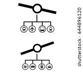 set of 2 vectors. pictogram... | Shutterstock .eps vector #644896120