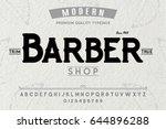 font. alphabet. script.... | Shutterstock .eps vector #644896288