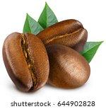 three shiny fresh roasted... | Shutterstock . vector #644902828