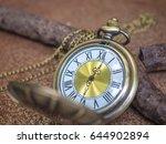 vintage pocket watch with rust... | Shutterstock . vector #644902894