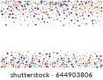 cover from rainbow confetti.... | Shutterstock .eps vector #644903806