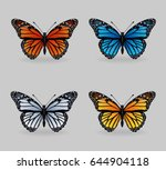 a collection of vibrant... | Shutterstock .eps vector #644904118
