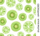 seamless pattern with green...   Shutterstock .eps vector #644906383