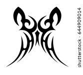 tribal tattoo art designs.... | Shutterstock .eps vector #644909014