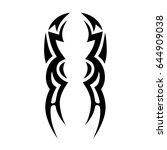 tattoo tribal vector design.... | Shutterstock .eps vector #644909038