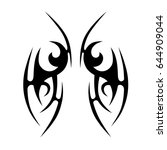 tattoo tribal vector design.... | Shutterstock .eps vector #644909044
