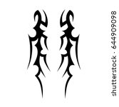 tribal tattoo art designs.... | Shutterstock .eps vector #644909098