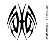 tribal tattoo art designs.... | Shutterstock .eps vector #644909104