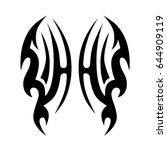 tattoo tribal vector designs....   Shutterstock .eps vector #644909119