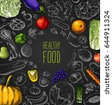 restaurant organic natural... | Shutterstock .eps vector #644911324