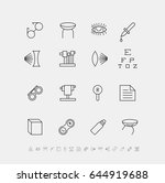 vector set of medical icons for ... | Shutterstock .eps vector #644919688