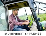 handsome young male farmer... | Shutterstock . vector #644920498