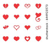 simple heart icon colection... | Shutterstock .eps vector #644923573