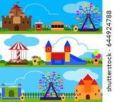 flat design banners with an... | Shutterstock .eps vector #644924788