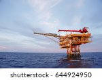 offshore construction platform... | Shutterstock . vector #644924950