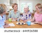 group of women meeting for book ... | Shutterstock . vector #644926588