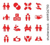 together icons set. set of 16... | Shutterstock .eps vector #644926750