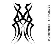 tribal tattoo art designs.... | Shutterstock .eps vector #644926798