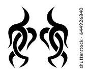 tattoo tribal vector designs....   Shutterstock .eps vector #644926840