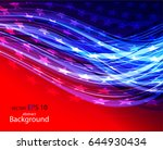 abstract image of the american... | Shutterstock .eps vector #644930434