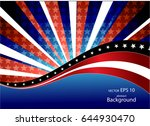 abstract image of the american...   Shutterstock .eps vector #644930470