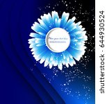 abstract blue background with a ... | Shutterstock .eps vector #644930524